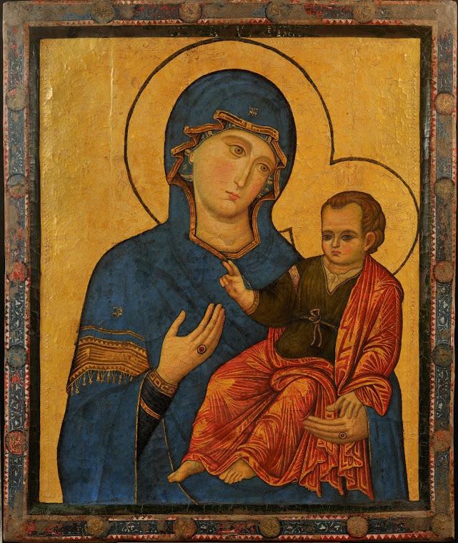 Virgen con el niño, siglo XIII. Anónimo