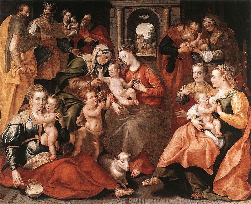 La familia de santa Ana (1585)